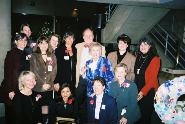 Georgetown Women in Medicine board members with roses.